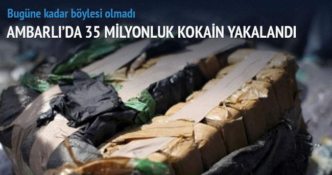 Ambarlı'da 35 milyonluk kokain yakalandı