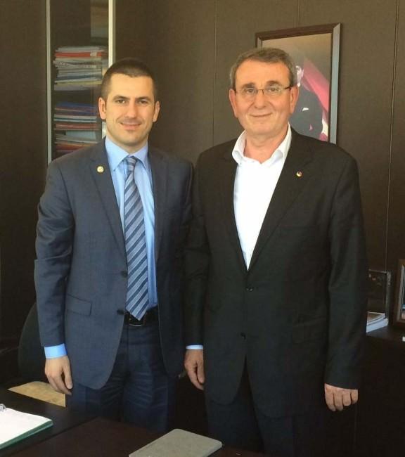"""Murzioğlu'ndan Ulusoy'a """"Hayırlı Olsun"""" Ziyareti"""
