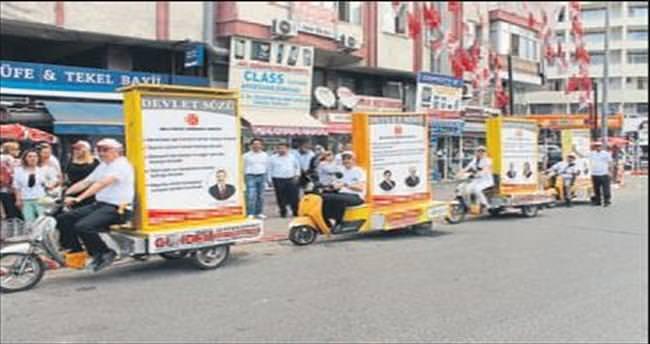 MHP'li adayların bisikletli tanıtımı