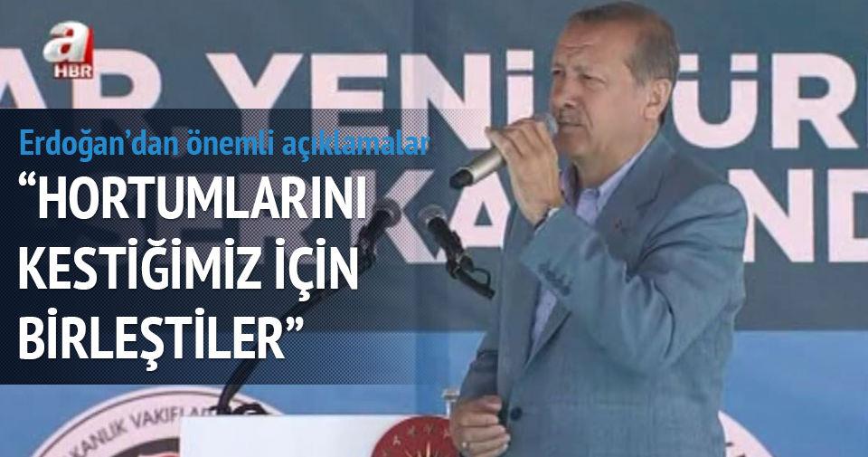Erdoğan: Bizler ferhatız, aşkınan çalışan yorulmaz