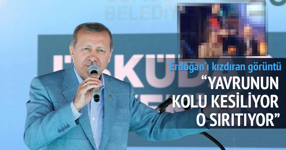 Cumhurbaşkanı Erdoğan'ı kızdıran görüntü