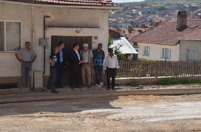 Başkan Bakıcı, Yediler Mahallesi'ndeki Yol Ve Kaldırım Yenileme Çalışmalarını Yerinde İnceledi