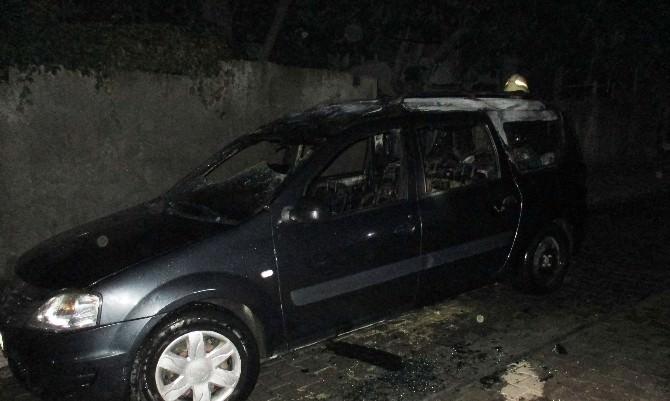Kahramanmaraş'ta Otomobil Kundaklandı