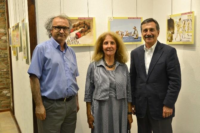 Başkan Ataç'tan Turizm Karikatürleri Sergisi Ziyareti