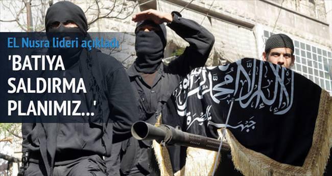 Nusra lideri: Batı'ya saldırma planımız yok
