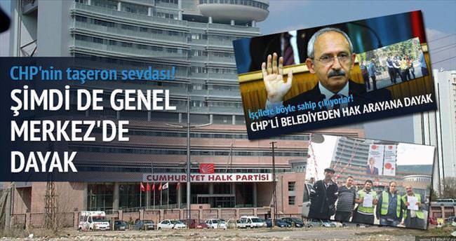 CHP Genel Merkezi'nde taşeron işçilere dayak