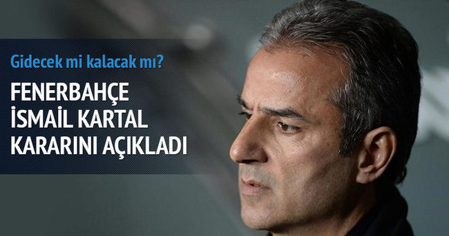 Fenerbahçe'de İsmail Kartal dönemi bitti