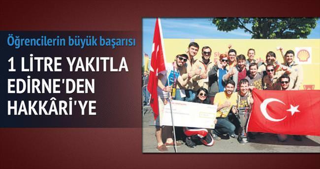 1 litre yakıtla Edirne'den Hakkâri'ye giden teknoloji