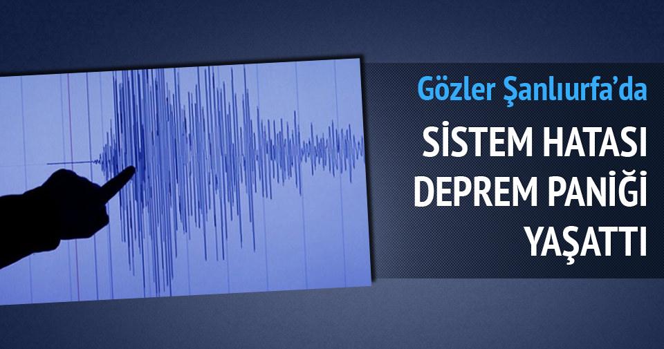 Şanlıurfa'da büyük deprem paniği