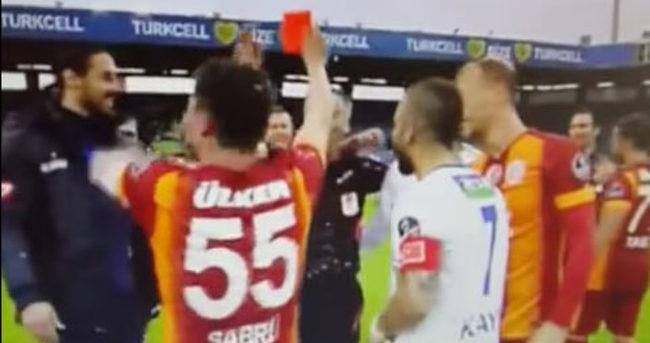Sabri'den Abitoğlu'na kırmızı kart!