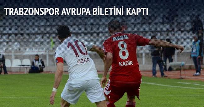 Trabzonspor Avrupa biletini kaptı!