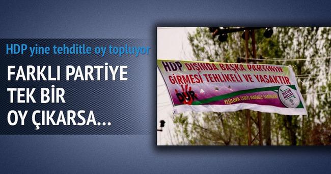 HDP köylere giderek veya telefonla tehdit ediyor