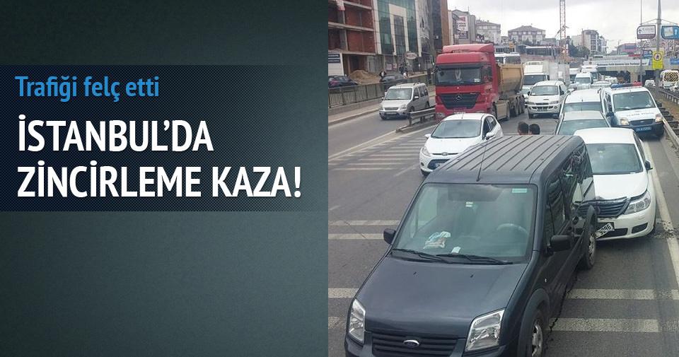 İstanbul'da zincirleme kaza: Trafik felç!
