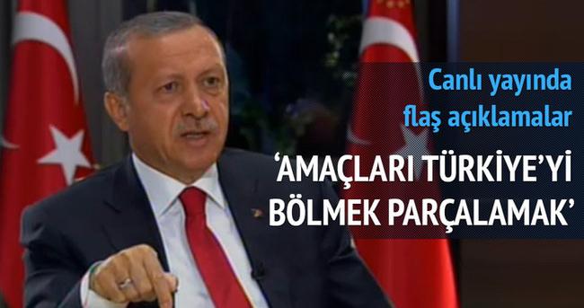 Erdoğan'dan canlı yayında flaş açıklamalar