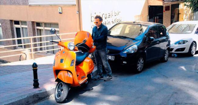 Filmde kullandığı motosikleti çok sevdi
