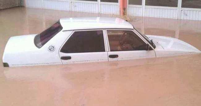 Aksaray'da sel baskını!