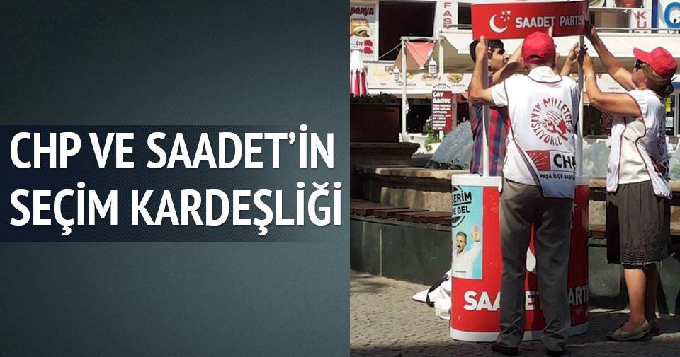 CHP'lilerden Saadet Partisi'ne destek