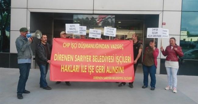 CHP'li belediyenin işçileri açlık grevinde