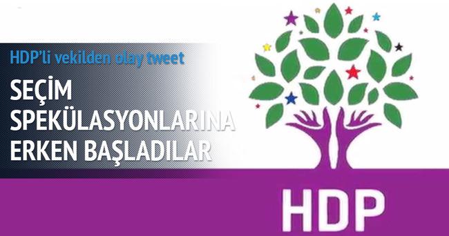 HDP'li vekilden olay tweet