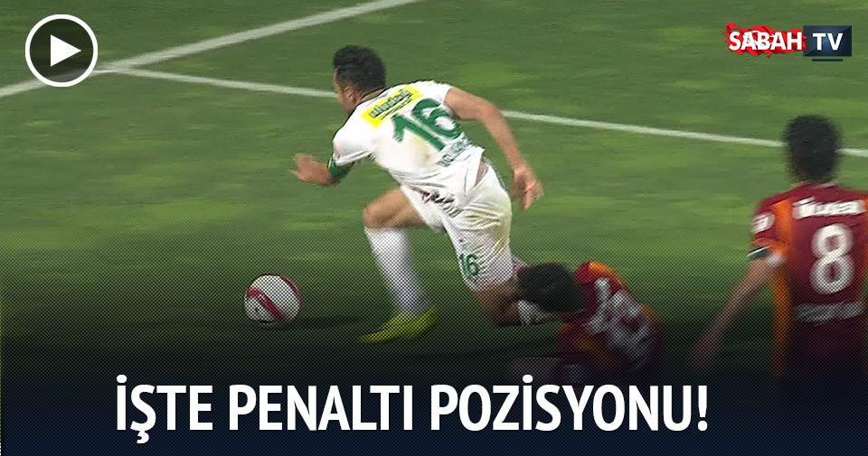 İşte Penaltı pozisyonu