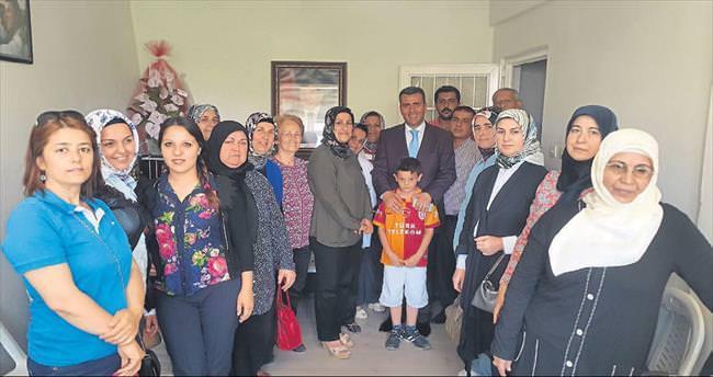 Başkan Altan'dan neşeli ziyaretler