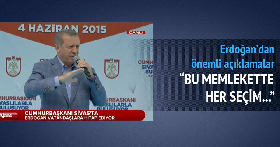Erdoğan: Bu memlekette her seçim Kurtuluş Savaşı'dır
