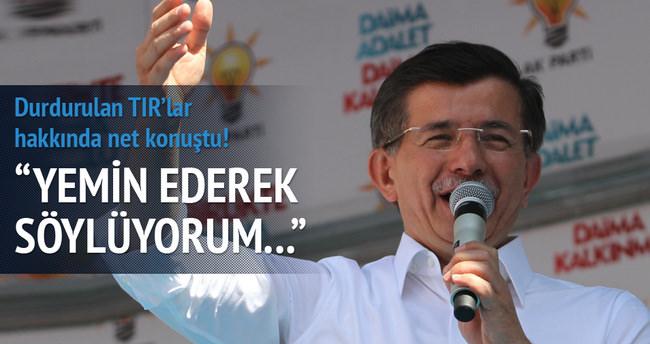Davutoğlu MİT TIR'ları hakkında net konuştu
