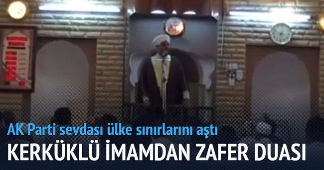 Kerküklü imamdan Ak Parti'ye seçim zaferi duası