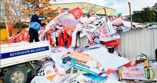 Büyükşehir seçim afişlerini 400 kişilik bir ekiple temizleyecek