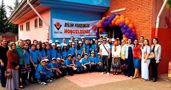 Taşkent Ortaokulu öğrencileri fuarda