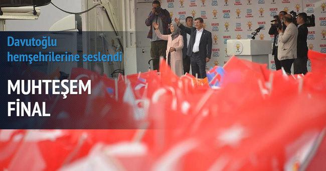 Başbakan Davutoğlu'ndan muhteşem final