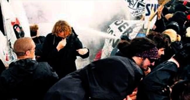 Alman polisinden orantısız şiddet