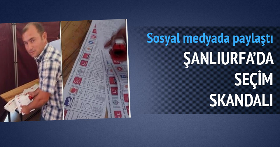 Şanlıurfa'da seçim skandalı