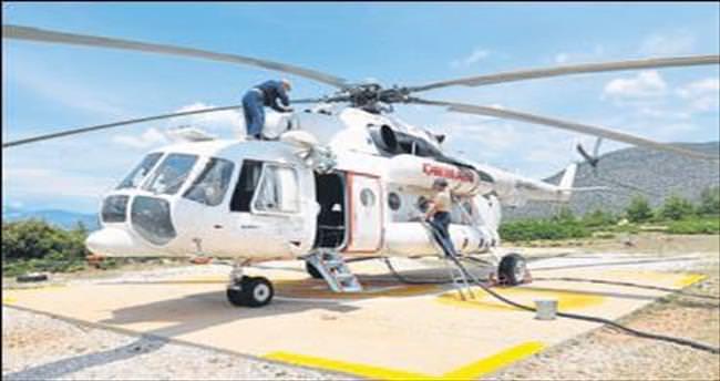 Yangın söndürme helikopteri görevde