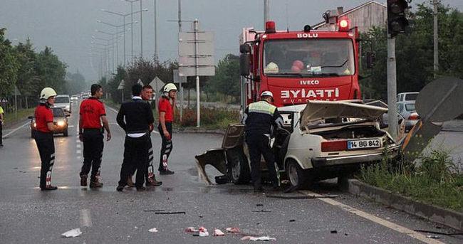 Bolu'da trafik kazası: 2 ölü 5 yaralı