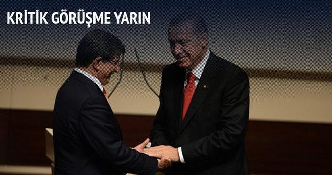 Erdoğan ile Davutoğlu yarın görüşecek