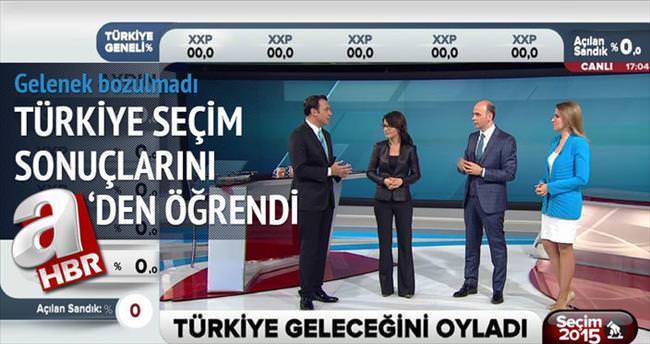 Türkiye seçimini aHaber'de izledi