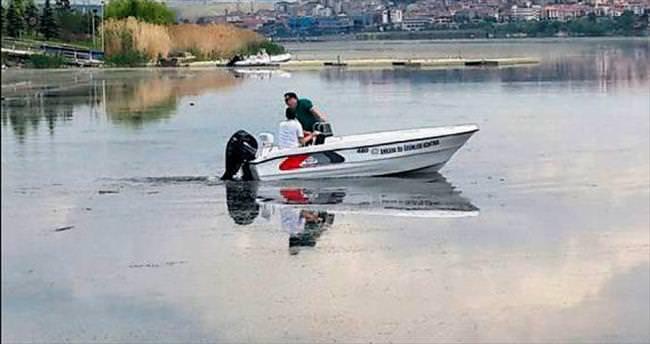 Göletlerin denetimi için tekne alındı
