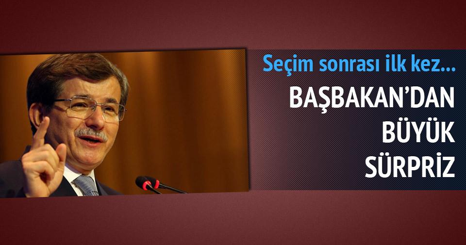 Başbakan Davutoğlu'ndan sürpriz