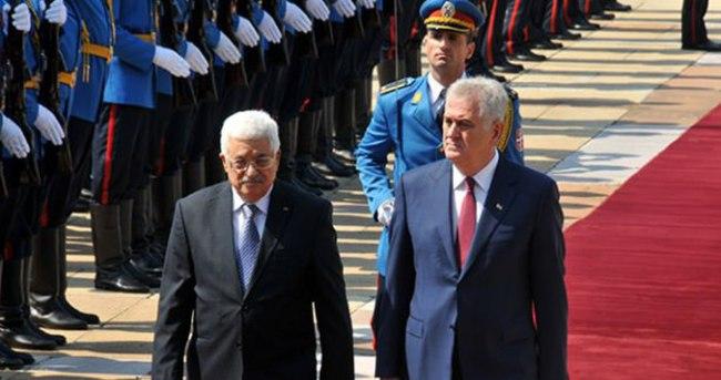 Filistin Devlet Başkanı Abbas Sırbistan'da