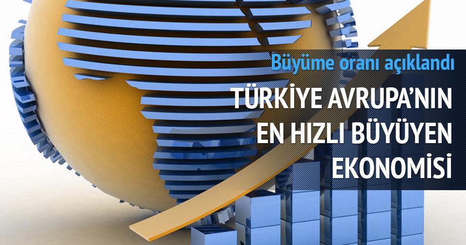 Türkiye Avrupa'nın en hızlı büyüyen ülkeleri arasında