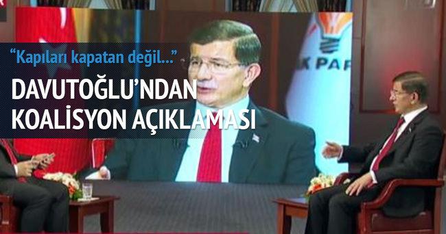 Davutoğlu'ndan koalisyon açıklaması