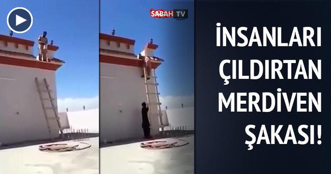 Çıldırtan merdiven şakası