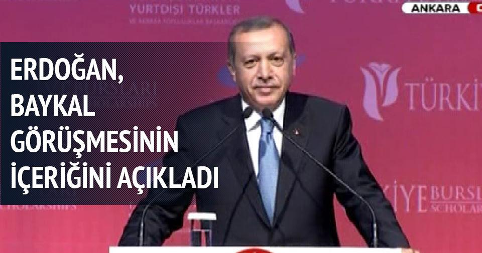 Erdoğan, Baykal görüşmesinin içeriğini açıkladı
