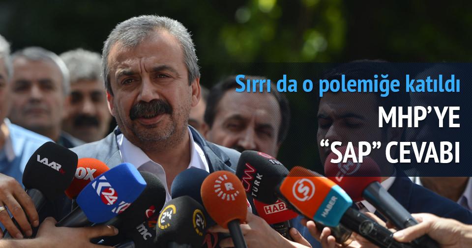 Sırrı Süreyya Önder'den sap sözüne yanıt