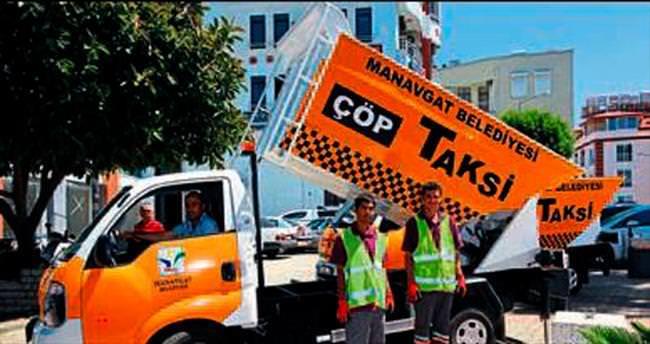 Çöp taksilerle daha temiz bir Manavgat