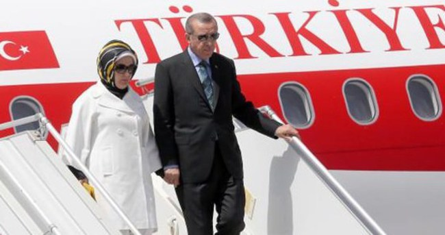 Erdoğan, özel uçak ile Azerbaycan'a gitti