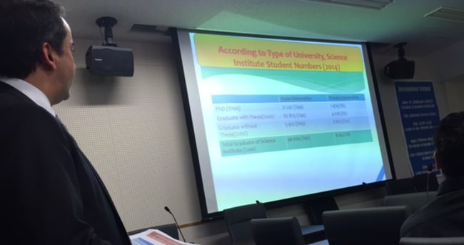 Japonya'da Türk yükseköğretim Eğitim sistemini anlattı!