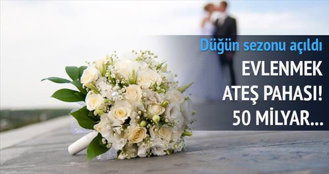 Bu yıl düğünlere 50 milyar harcayacağız
