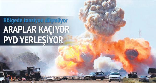 Türkmenler ve Araplar kaçıyor PYD yerleşiyor